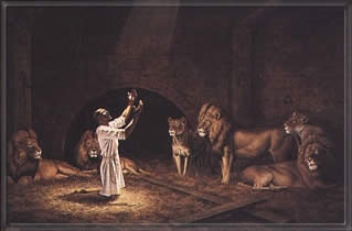 another painting of daniel in the lions' den